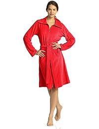 Vossen Damen Body Shape Bademantel in beige, rot oder grün