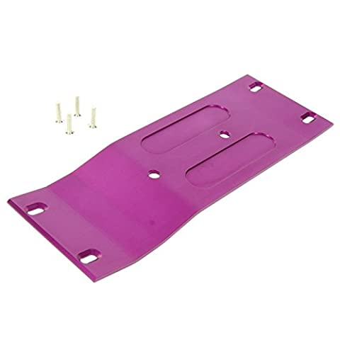 GPM Racing Alloy Center Skid Plate for 1:8 HPI Savage Flux (Purple)