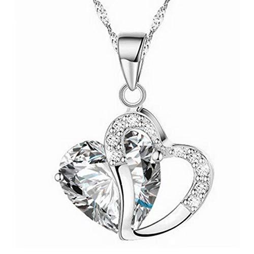 Preisvergleich Produktbild Damen 925 Sterling Silber 3A Zirkonia Halskette exquisite Geschenk