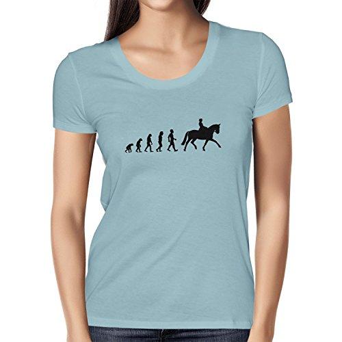 Texlab Dressurreiten Evolution - Damen T-Shirt, Größe M, hellblau