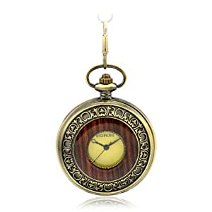 armel Steampunk Pocket Watch Roman Number Half Hunter - Antiqued Brass Tone Pw038 With Gift Box