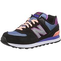 New Balance Damen Wl574v1 Sneakers, Schwarz, 38 EU