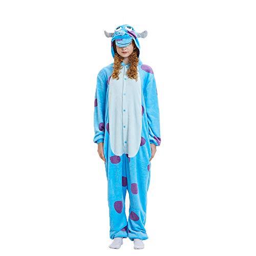 (NN IKEA Schlafanzug Tierkostüme Pyjamas Cartoon Cosplay Weihnachten Karneval,Blue,XL)