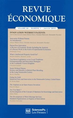 Revue économique, Volume 64 N° 1, Janv : Innovation without patents