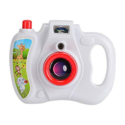 Hunpta@ Kamera Toy Kamera Toy Projektionssimulation Sound Kamera Kinder Pädagogisches Geschenk (Weiß)