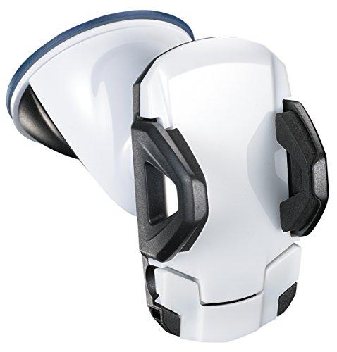 Auto-Halterung Handy-Halterung für die Windschutzscheibe in weiß, KFZ, für Apple iPhone 5 5s 6 6s,  Smartphone  Samsung S3 S4 S5 ()