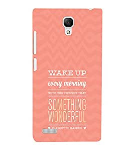 EPICCASE Happy Morning Mobile Back Case Cover For Xiaomi Redmi Note 4G (Designer Case)