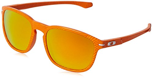 Oakley Herren 0Oo Enduro 922322 55 Sonnenbrille, Fingerprint Atomic Orange/Fireiridium -