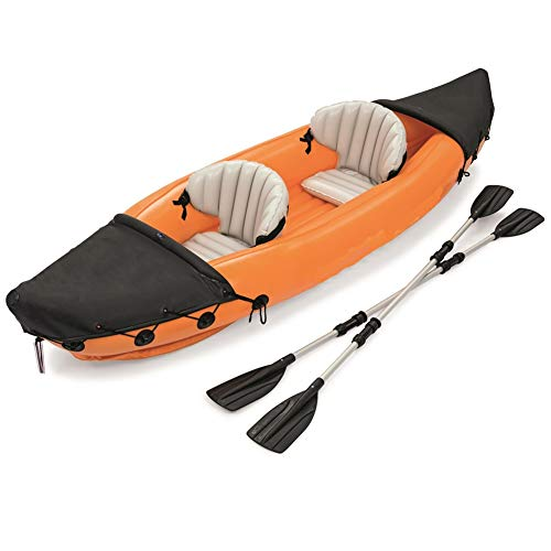 ZOUBIAG Schlauchboot Sport Kajak Kanu PVC Gummiboot Squat Sitz (Color : Orange, Size : 2-Person Boat)
