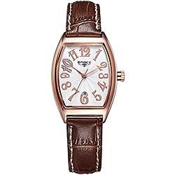 ladies waterproof watches/Retro calendar leather strap watch/Leisure quartz watch-G