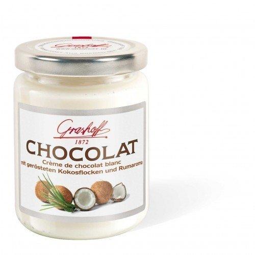 235g Grashoff Weiße Schokoladencreme mit Kokosnussflocken und Rumaroma