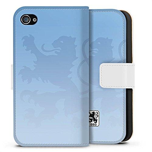 Apple iPhone 6s Silikon Hülle Case Schutzhülle TSV 1860 München Fanartikel Merchandise Fußball Sideflip Tasche weiß