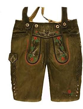 Herren Trachten Lederhose Trachtenlederhose Kurze Tracht Braun Gr.52#18