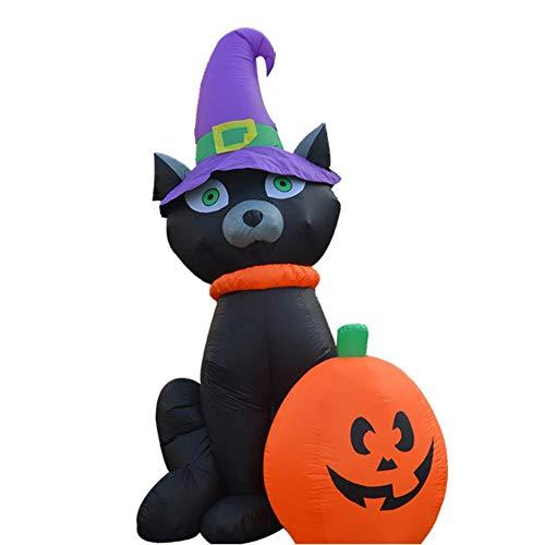 QIAO Halloween-Horror-Thema-Schwarze Katzen-Kürbis-aufblasbare Puppe aufblasbar (Kinder Transformatoren Kostüm)