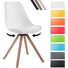 chaise blanche pivotante. Black Bedroom Furniture Sets. Home Design Ideas