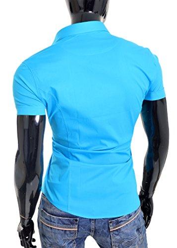 Designer Redbridge Men cyan Slim Fit manches courtes Casual NOUVEAU blanc noir Bleu