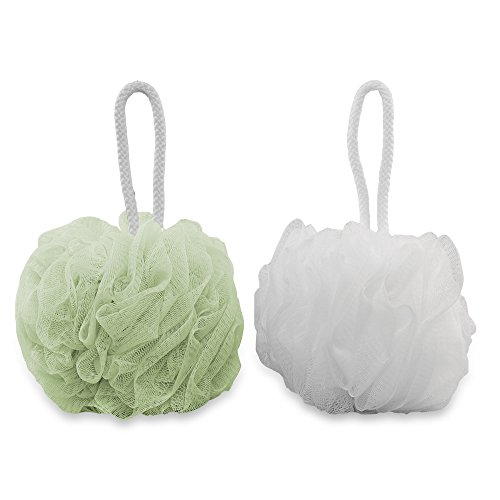 g2plus-2-pack-bath-puff-soft-bath-lily-extra-dense-shower-ball-loofah-sponge-body-exfoliate-pouf-whi