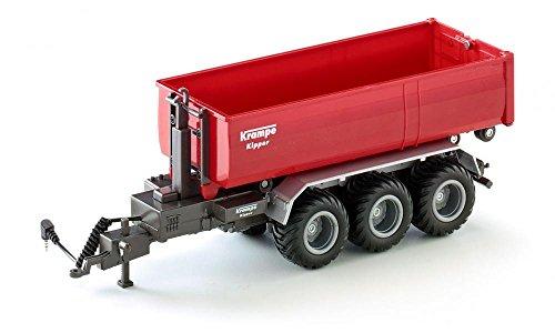 Siku 6786, 3-Achs-Hakenliftfahrgestell mit Mulde, 1:32, Fernsteuerbar, Für Siku Control Fahrzeuge mit Anhängerkupplung, Metall/Kunststoff, Rot