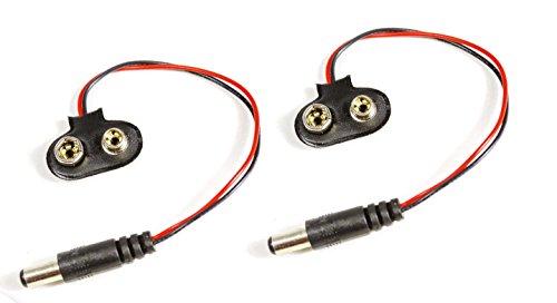 2 Stück 9V Batterie Power Stecker 10cm Kabel perfekt für Arduino, Prototyping