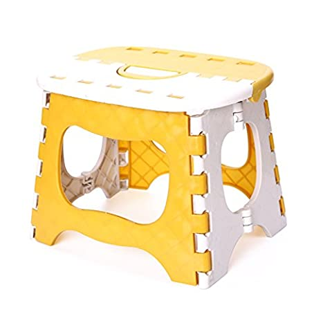 Plastic Folding Step Stool, Multi Purpose Solid Home Train Outdoor Portable Folding Stool