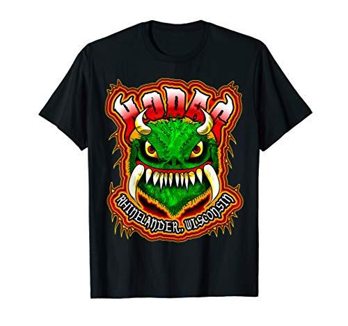 Hodag Rheinlander Wisconsin Monster Cryptozoology Creature T-Shirt - Wisconsin Gelben T-shirt