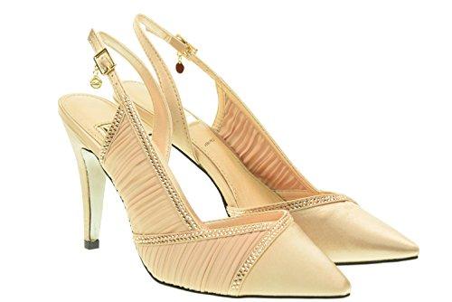 O6 MILANO donna sandali con i tacchi SA0319 NUDO 37 Nudo