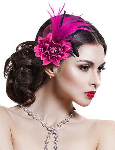Damen Brosche Elegant Fascinator...