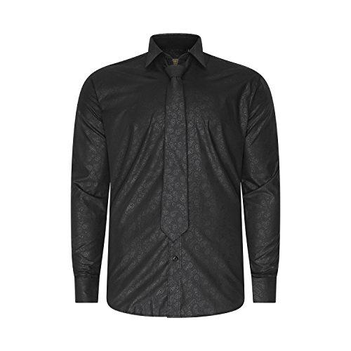Robelli Herren Freizeit-Hemd Soft Paisley - Black