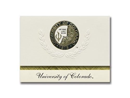 Signature Ankündigungen Universität von Colorado Denver Abschluss Ankündigungen, platin Stil, Basic Pack 20mit u. der colorado-denver Dichtung Folie