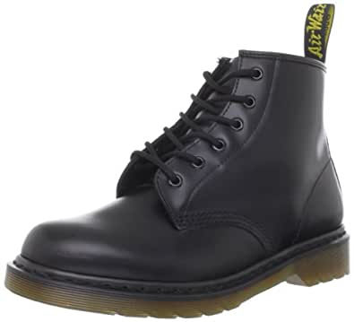 Dr. Martens Unisex Adult 101 Black Lace Up Boot 10064001 3 UK