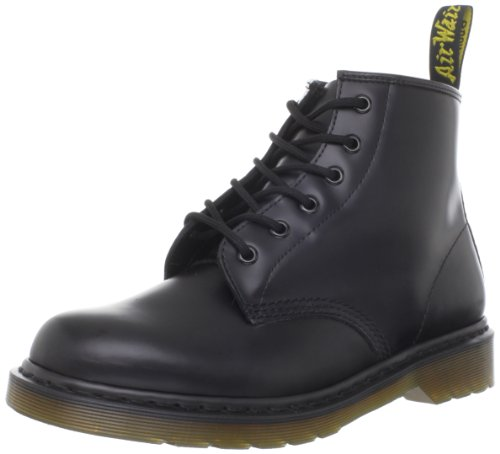 Dr. Martens 101 Smooth 6 Eye Boot , Stivaletti Unisex Adulto, Nero, 40