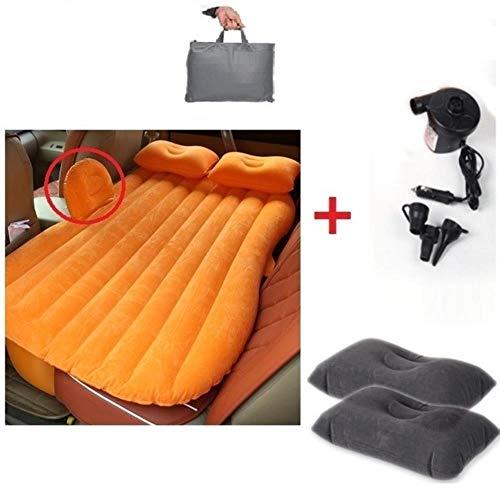 Auto-Luft-Bett, heiße Verkaufs-Auto-Luft-Bett aufblasbare Matratze zurück Sitzkissen + 2 Kissen für die Reise Camping HWC, Rosa