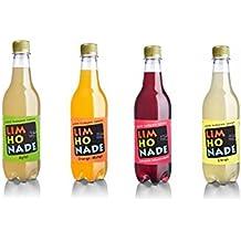 Pack de 4 limonadas para adultos con extracto de lúpulo en 4 sabores, 4 botellas