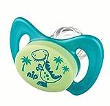 Miss Denti by nip 38182-51 Schnuller, Dentalschnuller Doppelpack, Dino und Delphin mit ersten Zähnchen, Große 2, blau / türkis - 2
