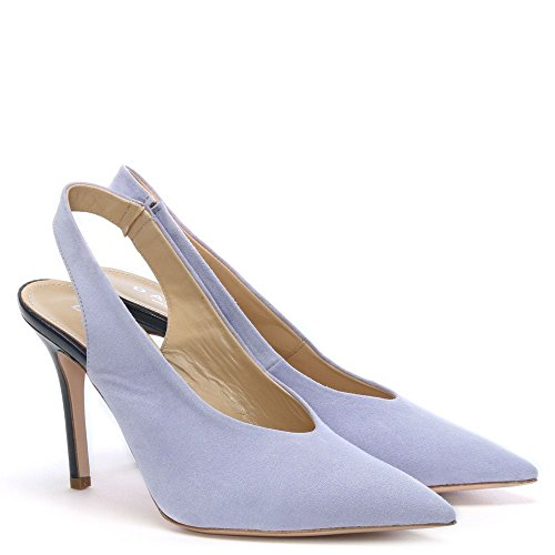 Daniel Slings Lilac Suede Sling Back Court Shoes Purple Leather