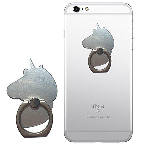 EinhornLiebe Fingerhalterung Handy Einhorn ; Smartphone Halterung Finger Grip Halter Fingerhalter Smartphone iPhone (Silber)