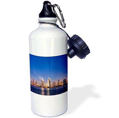 USA California Coronado Island San Diego Skyline at Twilight braun Sport Wasser Flasche Edelstahl-Flasche für Frauen Herren Kinder 400ml