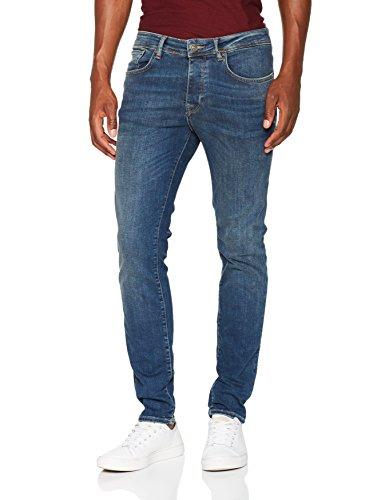 SELECTED HOMME Herren Skinny Jeans Blau (Medium Blue Denim)