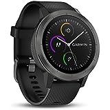 Garmin Vivoactive 3 - Montre Connectée de Sport avec GPS et Cardio Poignet - Gray avec Bracelet Noir