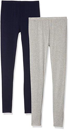 New Look Two Pack, Leggings Femme Gris/Bleu marine