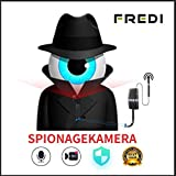 Mini Überwachungskamera,FREDI HD 1080P Mini Kamera Tragbare WLAN WiFi Netzwerk IP Kleine Kamera Bluetooth P2P mit Bewegungsmelder/Mikrofon/Videoaufzeichnung/mit Handy übertragung mit akku