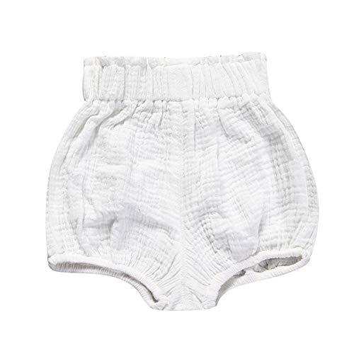 Haimoburg Baby Mädchen Jungen Kurze Pumphose Shorts Baumwolle Höschen (9-12 Monate, Weiß)