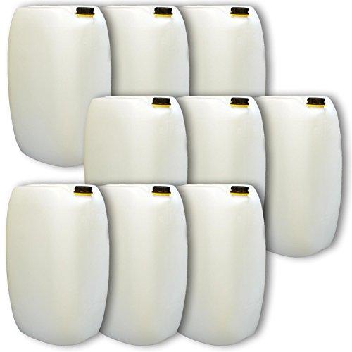 Lot de 9 bidons – Jerrican 60 L, naturel, HDPE ouverture DIN 61 qualité alimentaire (9x22249)