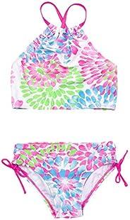 Traje de baño de 2 piezas de cintura alta para niñas y niñas