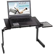 Meykey Plegable Mesa Para Ordenador Portatil 48 x 26 x 45 cm, Negro