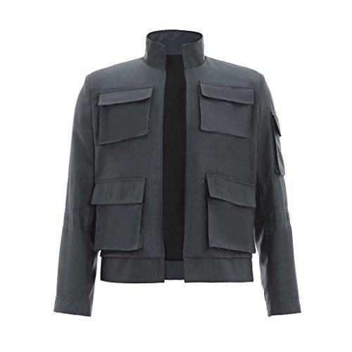 Solo Han Kostüm Outfit - CosplayDiy Herren Jacke Han Solo Cosplay Grau - grau - Klein