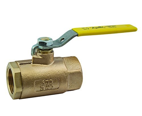 Apollo 70-100 Series Bronze Ball Valve, Two Piece, Inline, Lever, 1-1/4 NPT Female by Apollo Valve - Series Ball Valve