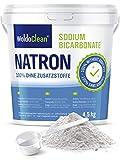 Natron Pulver 4,5 kg in Lebensmittelqualität inkl. Dosierlöffel Vegan - für Haushalt, Basenbad, Reiniger, Neutralisierer