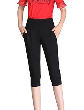 13c448433976 ShiFan Donna 3/4 Lunghezza Casual Taglie Forti Vita Alta Pantaloni Harem  Elastico Sottile Pantaloni