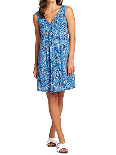 Marks and Spencer Marks & Spencer Blue Paisley Jersey Beach Vest Dress M&S Summer Cool Technology